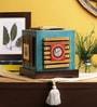 VarEesha Blue Wood Desk Lamp