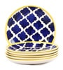 VarEesha Hand Crafted Blue Ceramic Full Plates - Set of 6