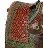 VarEesha Multicolour Metallic Handcrafted Bull Showpiece