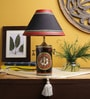 Red & Black Fabric Table Lamp by VarEesha