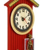 Vareesha Red Wood 6.5 x 14 Inch Handcrafted Wall Clock