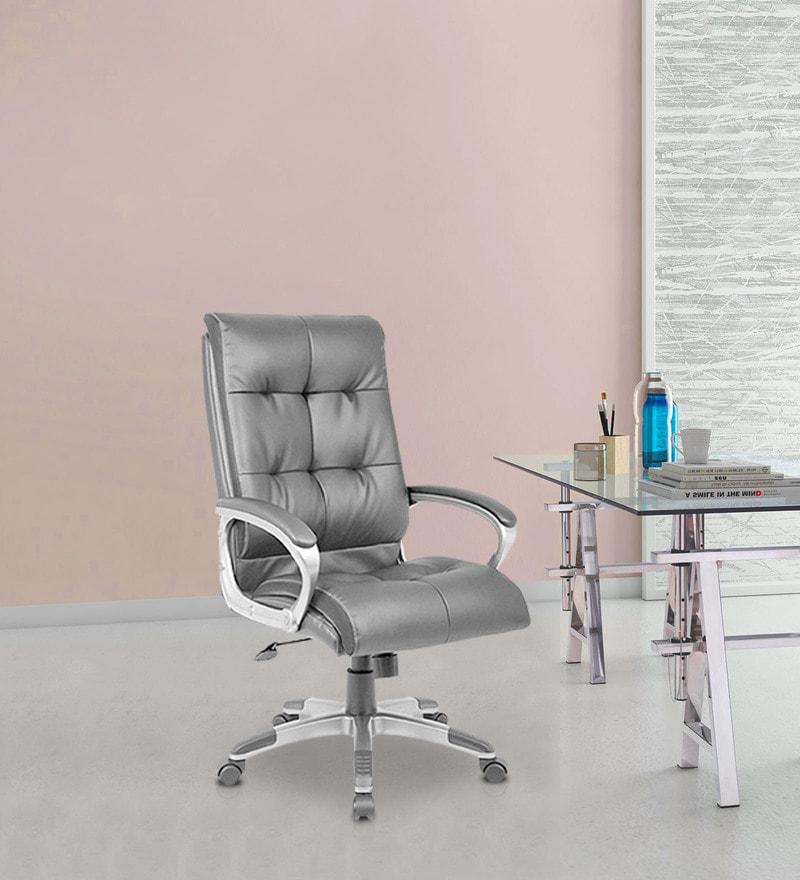Veneto High Back Executive Office Chair in Black Colour by Nilkamal