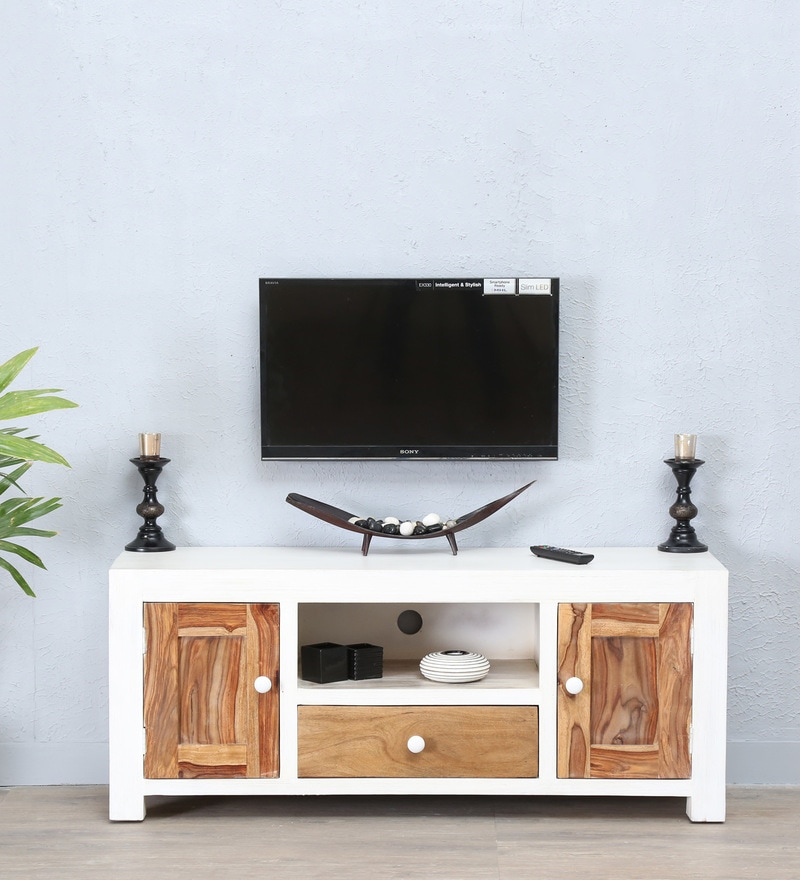 Verona Entertainment Unit in Distress Finish by Bohemiana
