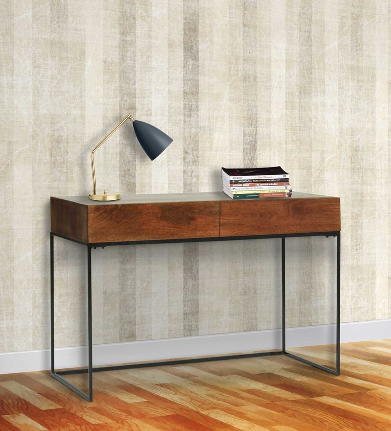 Verona Study & Laptop Table in Walnut Finish by The ArmChair