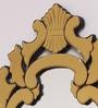 Gold MDF & Glass Leaf Wall Mirror by Venetian Design