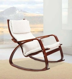 Vita Rocker Chair in Beige Colour by HomeTown at pepperfry