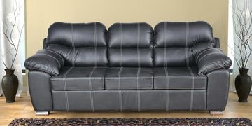 Vivianna Three Seater Sofa In Black Colour By Cloud 9