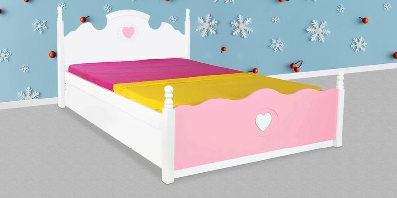 Victoria Kids Single Bed in Pink and White by Alex Daisy