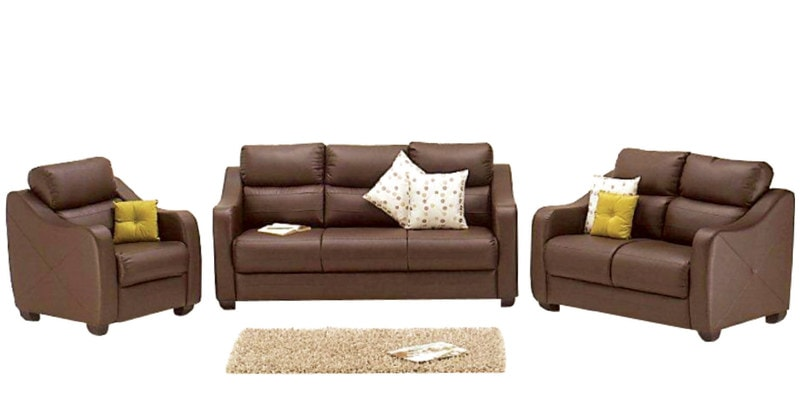 Buy Vida Sofa Set 3 2 1 Seater In Burgundy Colour By