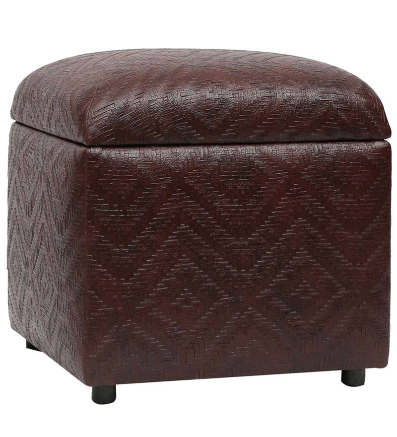 Vicar Storage Ottoman in Dark Brown Colour by SIWA Style