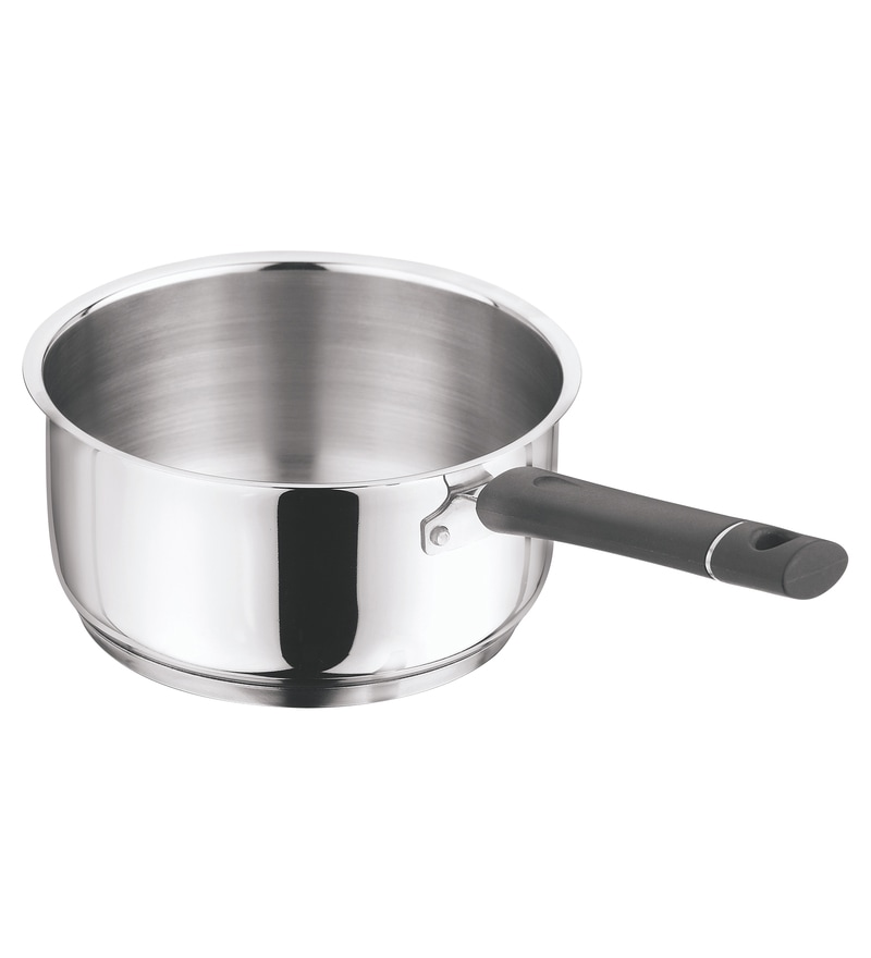 Stainless Steel 3000 ML Sauce Pan by Vinod Cookware