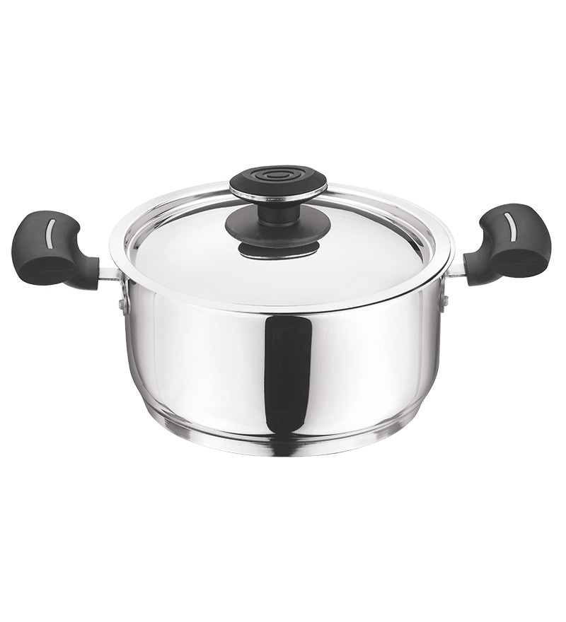 Vinod Cookware Stainless Steel Tivoli Casserole With Lid - 4L