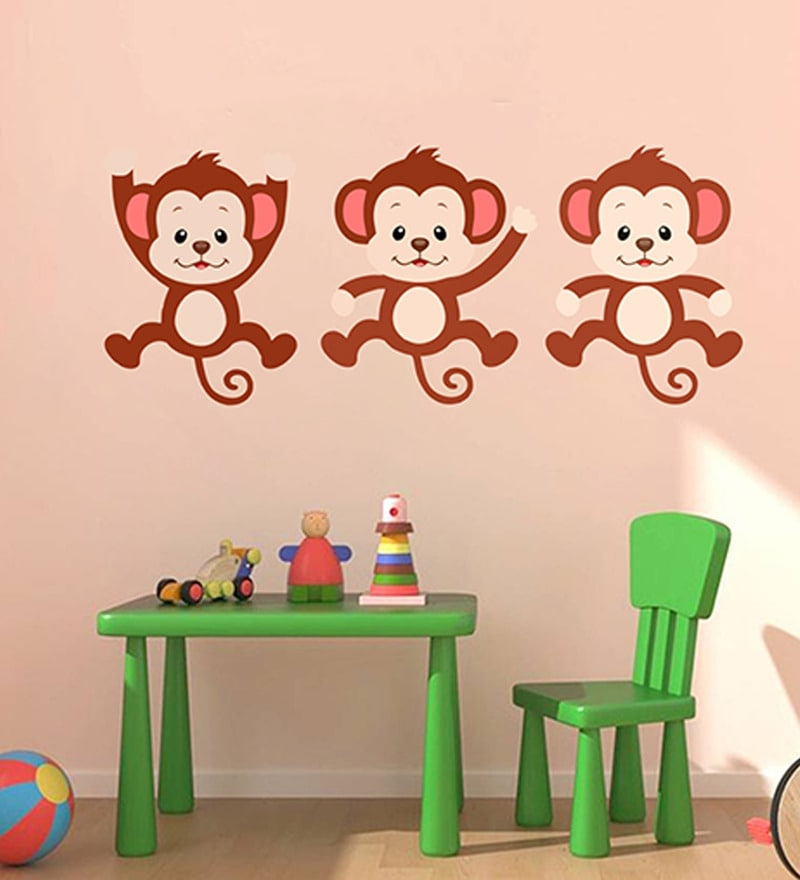 Vinyl Action Monkeys Wall Sticker by Decor Kafe