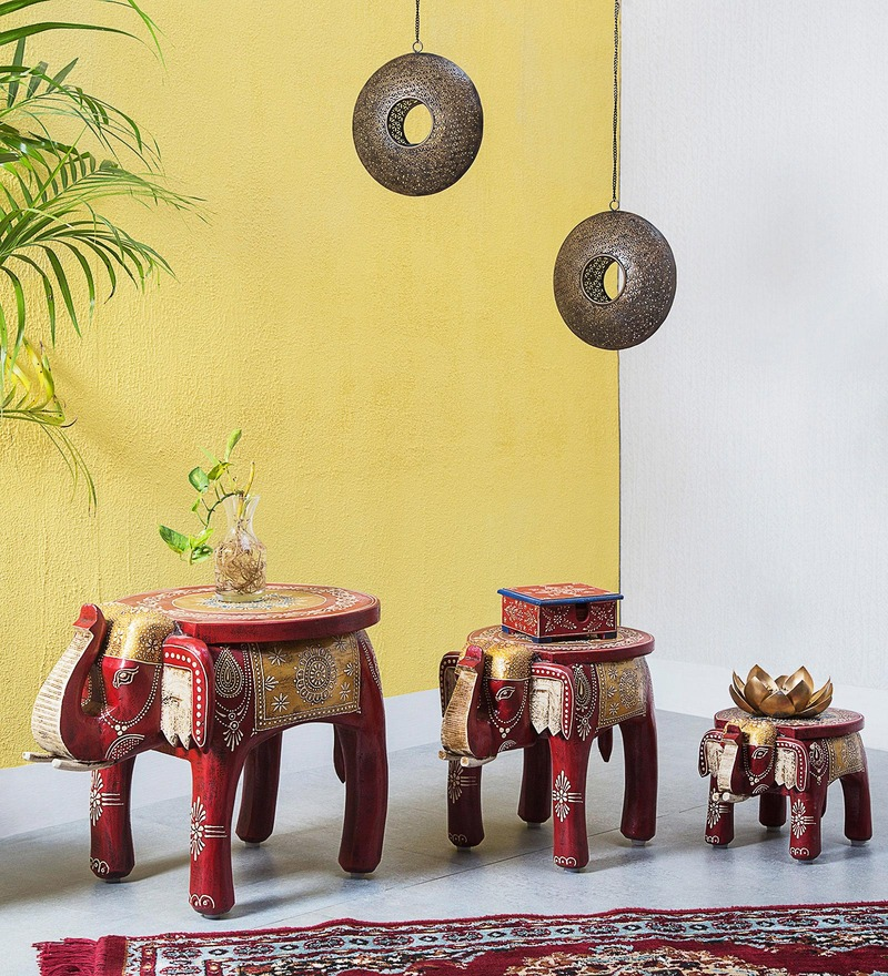 Akarsa Hand Painted Set of Tables by Mudramark