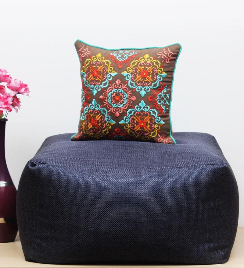 Brown Cotton & Flex 16 x 16 Inch Cushion Cover by Vista