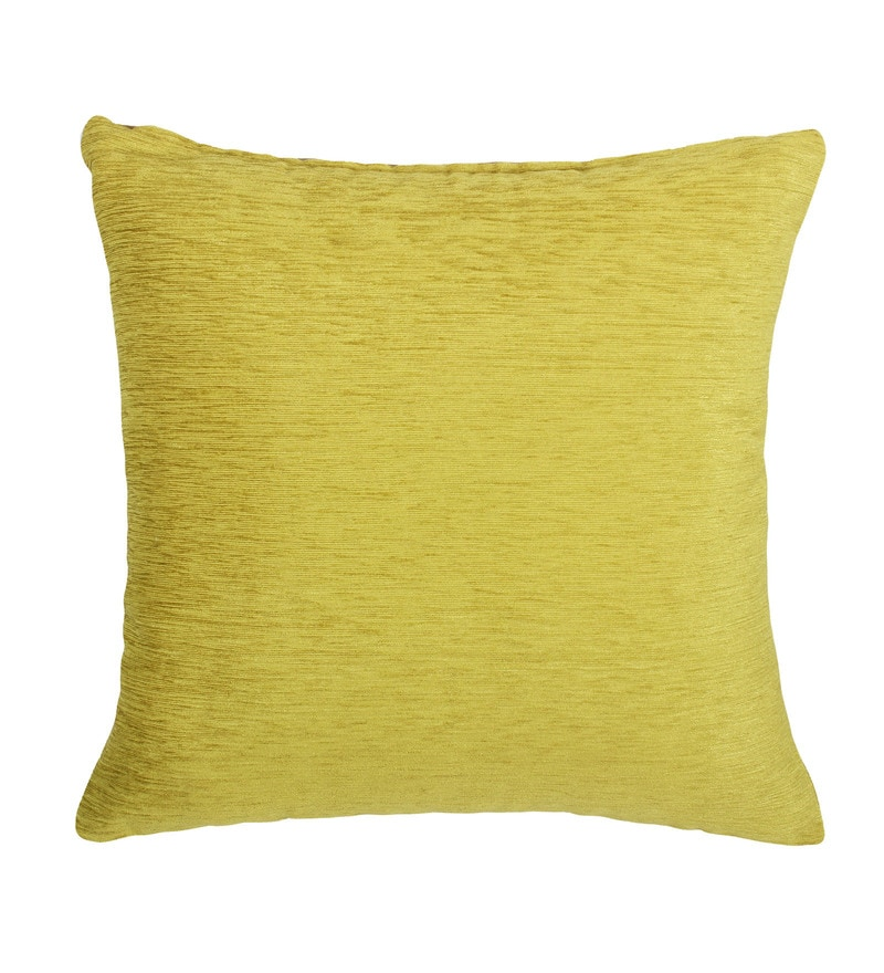 Green Chenille 16 x 16 Inch Cushion Cover by Vista