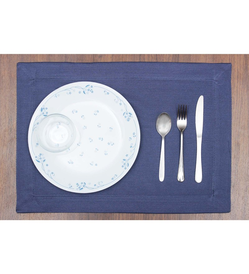 Vista Home Fashion Blue Cotton & Polyester Placemats