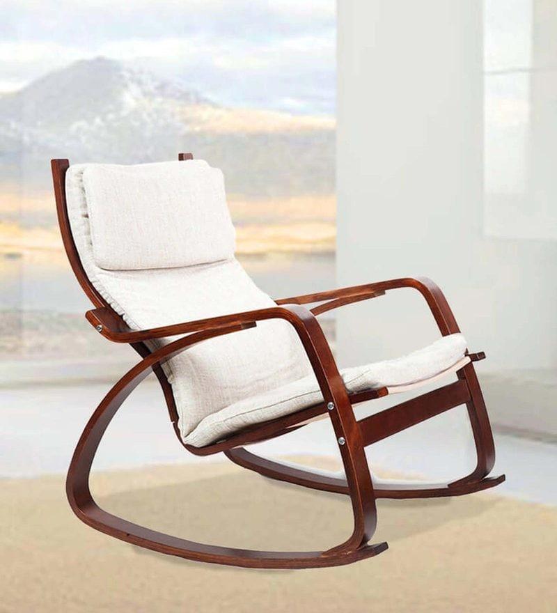 Vita Rocker Chair in Beige Colour by HomeTown