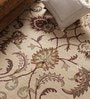 Beige Wool Antiquities Hand Tufted Carpet by Vikram Carpets