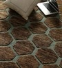 Brown & Ivory Jute & Wool 96 x 60 Inch Hand Knotted Carpet by Vikram Carpets