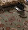 Light Green Wool Antiquities Hand Tufted Carpet by Vikram Carpets