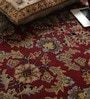 Red Wool Antiquities Hand Tufted Carpet by Vikram Carpets