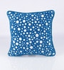 Blue Cotton 16 x 16 Inch Circles Cushion Cover by Vista Home Fashion