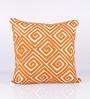 Orange Cotton 18 x 18 Inch Cushion Cover by Vista Home Fashion