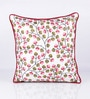 Pink & Green Cotton 18 x 18 Inch Indian Cushion Cover by Vista Home Fashion