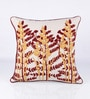 Red Cotton 18 x 18 Inch Embroidered Cushion Cover by Vista Home Fashion