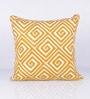 Vista Home Fashion Yellow Cotton 18 x 18 Inch Cushion Cover
