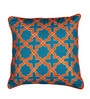 Vista Orange & Blue Cotton 18 x 18 Inch Cushion Cover