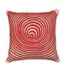 Red Cotton 18 x 18 Inch Square Cushion Cover by Vista