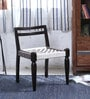 Vyuti Chair with Weaving Work in Warm Chestnut Finish by Mudramark