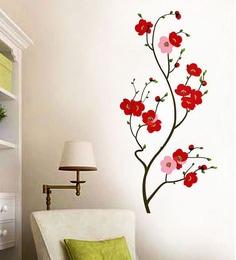 PVC Vinyl Lovely Cherry Blossom Wall Sticker u0026 Decal