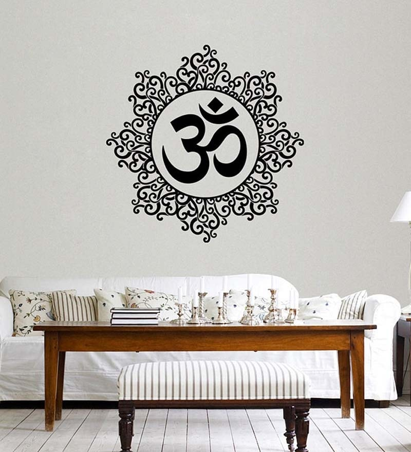 PVC Vinyl Designer Om Wall Sticker & Decal by WallTola