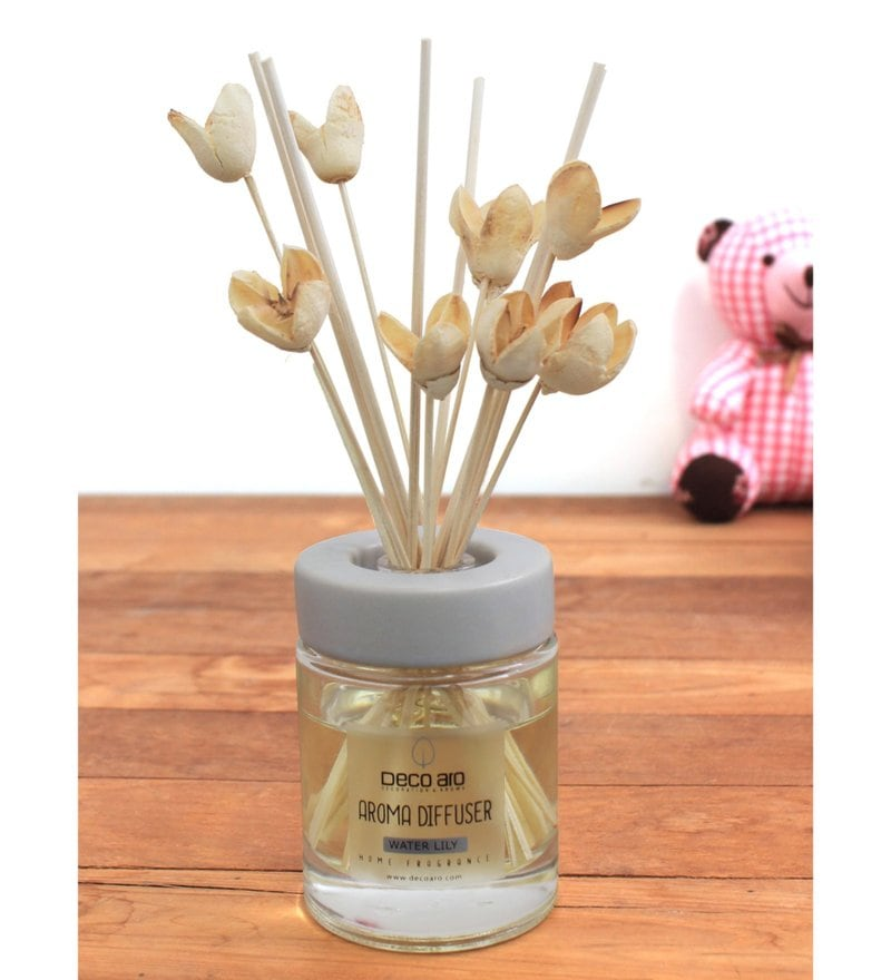 Water Lily with Bakuli Flower in Reed Sticks Diffuser by Deco Aro