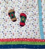 Walk Among Stars Baby Quilt Set in Multicolour by Raw Kottage