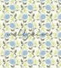Blue Non Woven Paper Flower Wallpaper by Wallskin