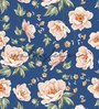 Blue Non Woven Paper The Bloom Flowers Wallpaper by Wallskin