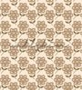 Brown Non Woven Paper Big Flowers Wallpaper by Wallskin