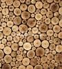 Brown Non Woven Paper Logs Wallpaper by Wallskin