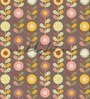 Brown Non Woven Paper The Floral Danglers Wallpaper by Wallskin
