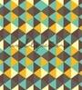 Green Non Woven Paper Retro Diamond Pattern Wallpaper by Wallskin