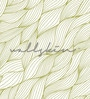 Green Non Woven Paper Seamless Wavy Pattern Wallpaper by Wallskin