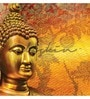 Orange Non Woven Paper Buddha Great Wallpaper by Wallskin