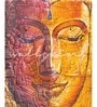 Orange Non Woven Paper Buddha Wallpaper by Wallskin