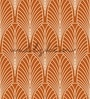 Orange Non Woven Paper The Peacock Inspired Pattern Wallpaper by Wallskin