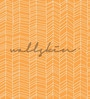 Orange Non Woven Paper The Playful Lines Wallpaper by Wallskin