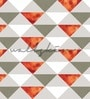 Orange Non Woven Paper The Triangles Wallpaper by Wallskin